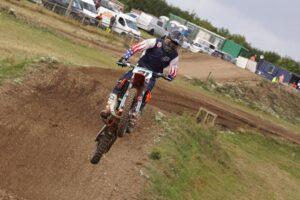 Jake riding his motocross bike